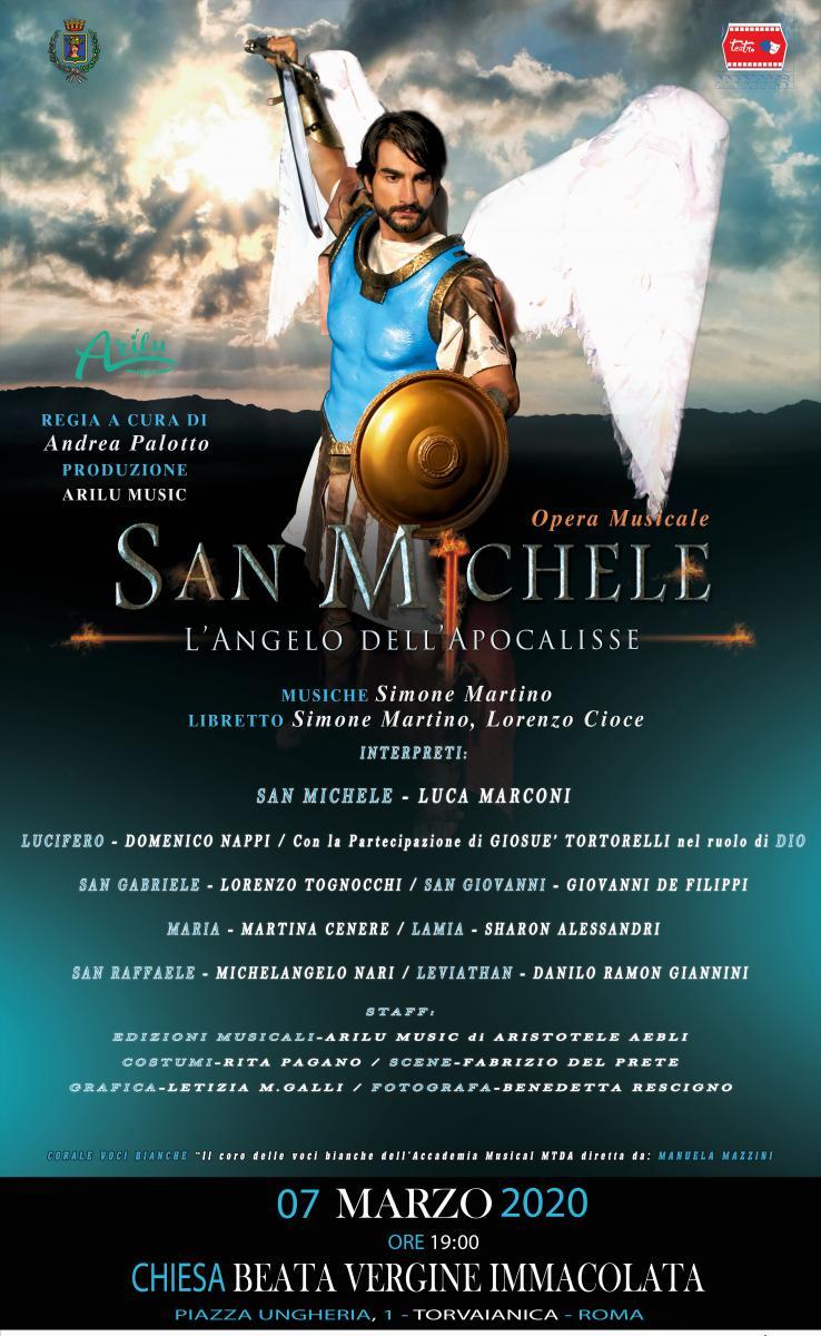 SAN MICHELE E L'ANGELO DELL'APOCALISSE alla Chiesa Beata Vergine Immacolata di TORVAIANICA - COMUNICATO STAMPA