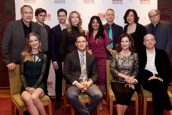 Seated: Tess Frazer, Eric William Morris, Margaret Colin, Frank Wood. Standing: Gregg Edelman, Zane Pais, JD Taylor, Ilana Levine, Anna Itty, Patrick Breen, Lynne Meadow, Richard Greenberg