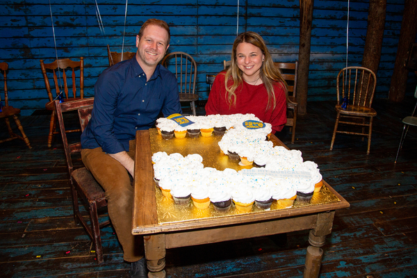 David Hein and Irene Sankoff with cupcakes from Sugarush Bakery and Cupcake Bar Photo