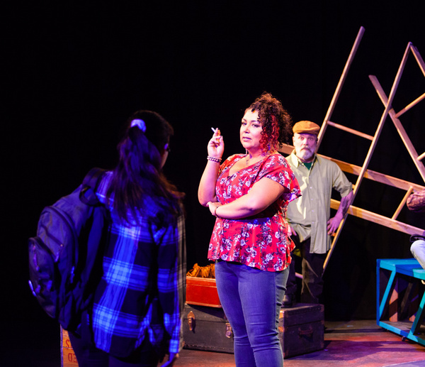 Nicole Paloma Sarro and Roger Lemelin in MISS YOU LIKE HELL at The Wilbury Theatre Gr Photo