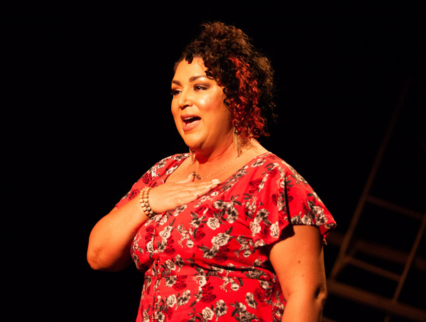 Nicole Paloma Sarro in MISS YOU LIKE HELL at The Wilbury Theatre Group, Providence RI Photo
