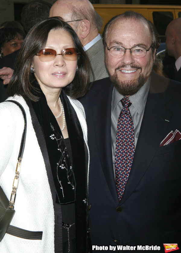 James Lipton & wife arriving for the Opening Night Performance of LOVEMUSIK at the Bi Photo