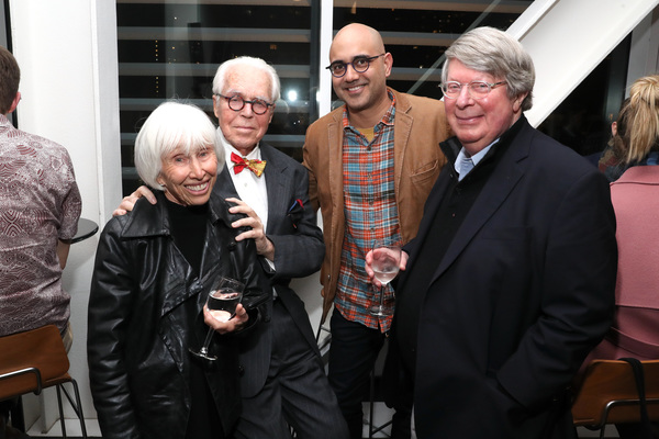 Francine Horn, John Guare, Ayad Akhtar and Andre Bishop  Photo