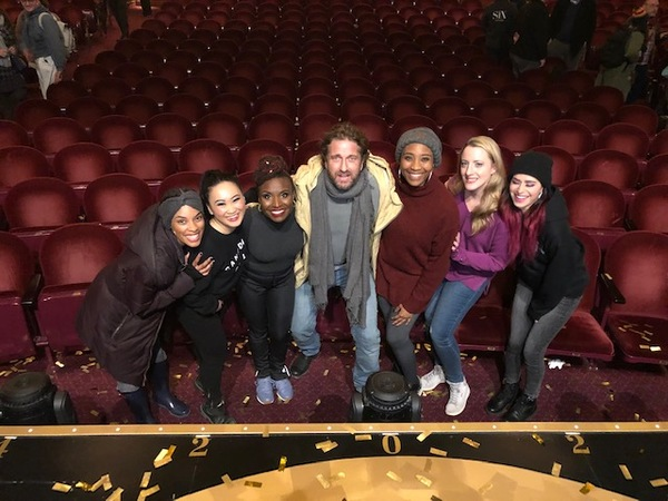 Gerard Butler and the cast of Six