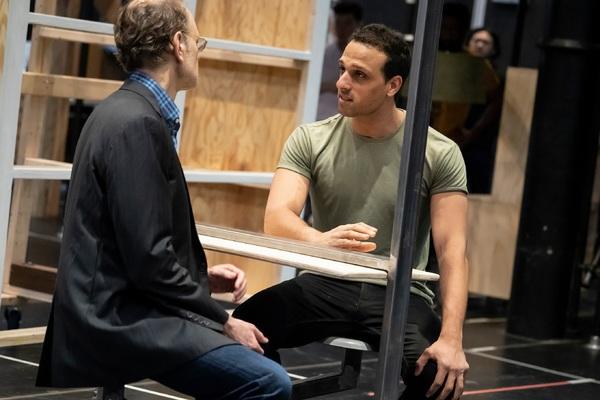 David Hyde Pierce and Ari'el Stachel Photo