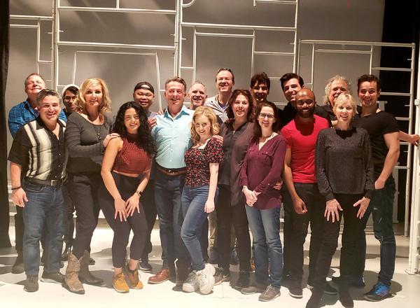Photo Flash: Inside First Rehearsal For ROMEO & BERNADETTE