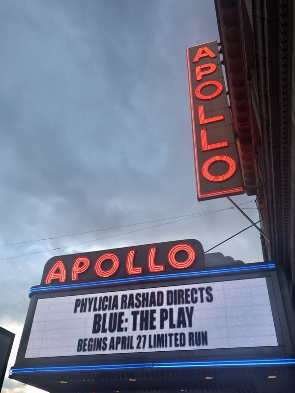 Up on the Marquee: BLUE at the Apollo Theater