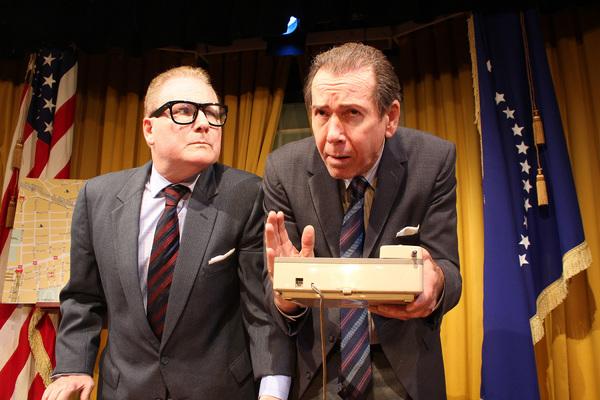 Michael Van Duzer as Henry Kissinger, Steve Nevil as Richard Nixon Photo