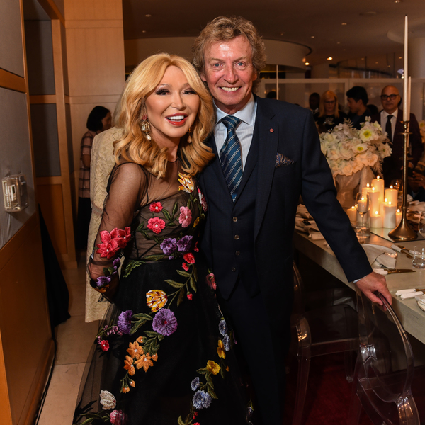 COSTA MESA, CA - MARCH 7: Elizabeth Segerstrom and Nigel Lythgoe attend Of Love And Rage Premiere Dinner Hosted By Elizabeth Segerstrom at Leatherby's Cafe Rouge on March 7, 2020 in Costa Mesa, CA. (Photo by Presley Ann/PMC/PMC/PMC) *** Local Caption *** Elizabeth Segerstrom;Nigel Lythgoe