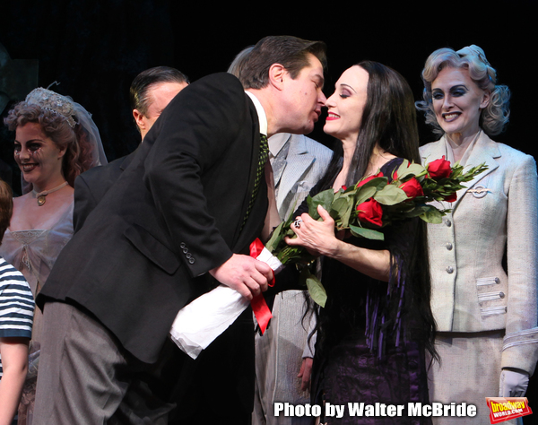 Merwin Foard & Bebe Neuwirth.taking bows during the Broadway Opening Night Curtain Ca Photo