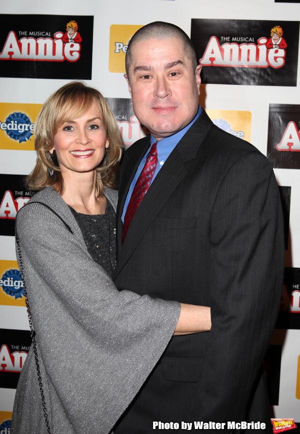 Merwin Foard & wife Rebecca Baxter attending the Broadway Opening Night Performance A Photo