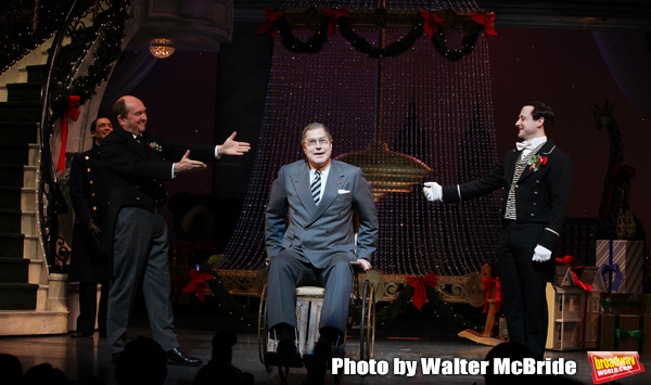 Dennis Stowe, Joel Hatch, Merwin Foard & Jeremy Davis during the Broadway Opening Night Performance Curtain Call for 'Annie' at the Palace Theatre in New York City on 11/08/2012