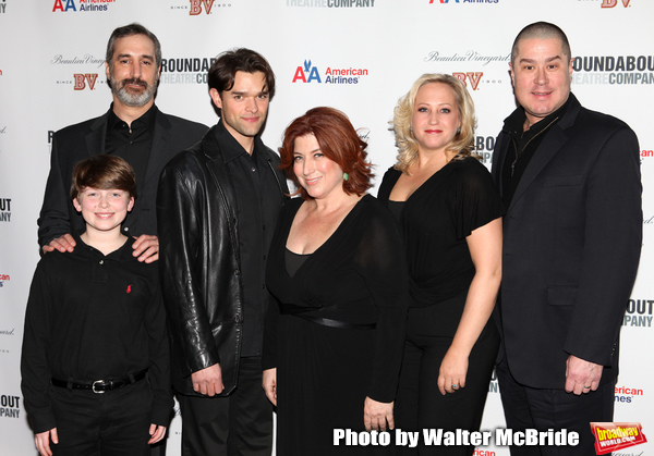 L to R: Mitchell Sink, Ken Krugman, Anne L. Nathan, Sally Wilfert & Merwin Foard attending the Roundabout Theatre Company's One Night Only Benefit Cast Party for 'Assassins' at Studio 54 in New York City. December 3, 2012.
