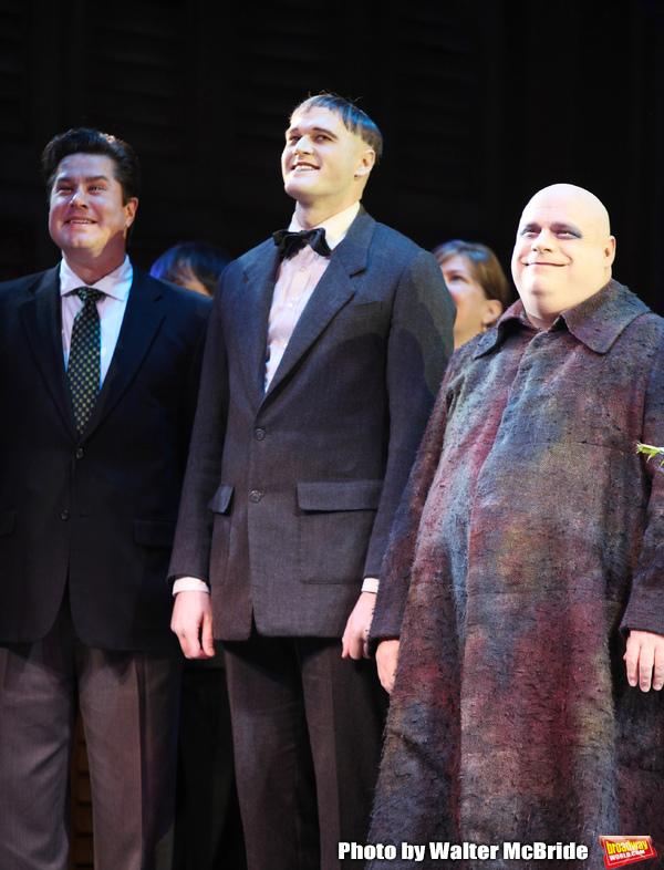 Merwin Foard, Zachary James, Kevin Chamberlain taking bows during the Broadway Openin Photo