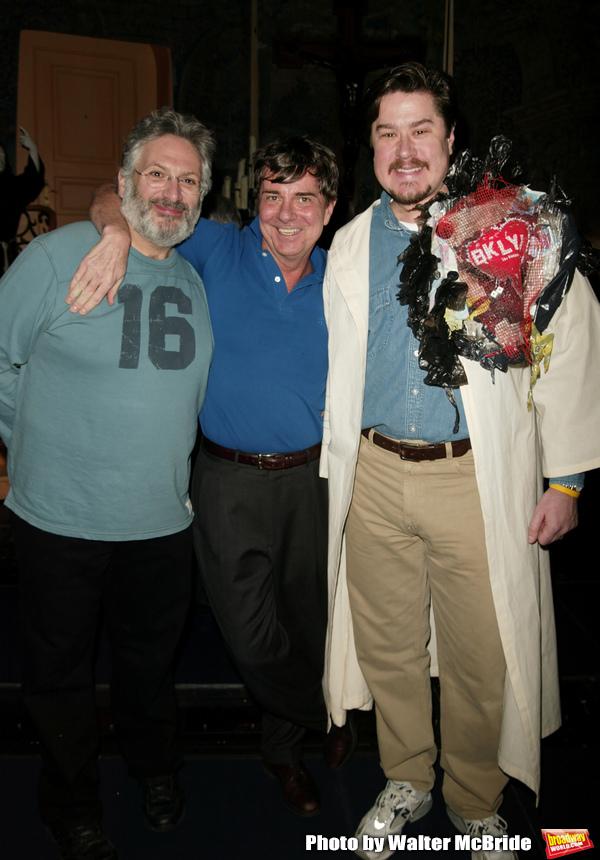 Harvey Fierstein and Gary Beach with Gypsy Winner Merwin Foard Attending the Opening  Photo