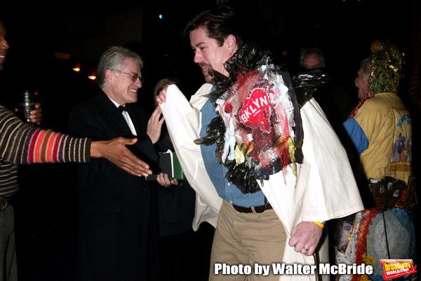 Merwin Foard ( Gypsy winner La Cage Aux Folles ) with Harvey Fierstein and cast membe Photo