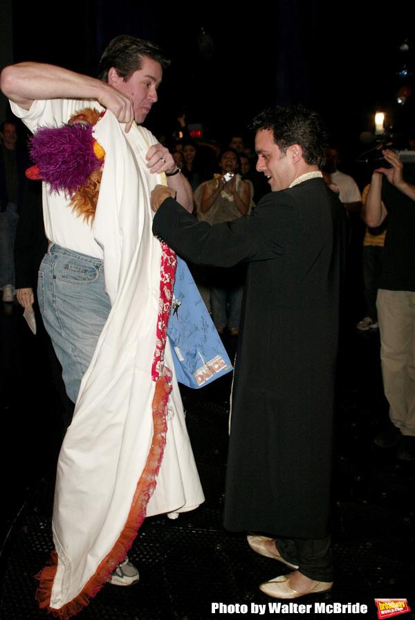 Rommy Sandhu ( Gypsy Winner for Bombay Dreams ) gets the Robe from Merwin Foard ( Gyp Photo