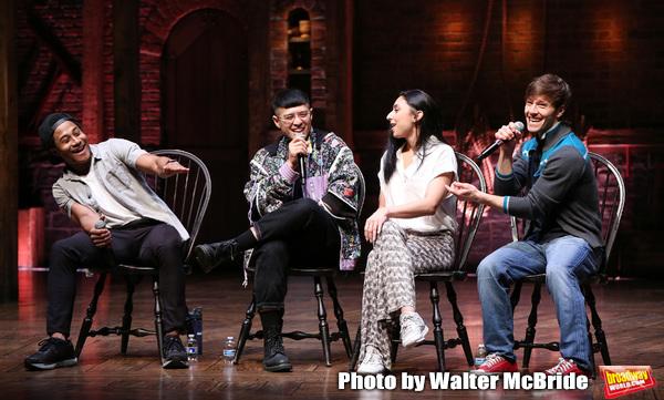Daniel Yearwood, Preston Mui, Lauren Boyd and Thayne Jasperson during the Q & A befor Photo