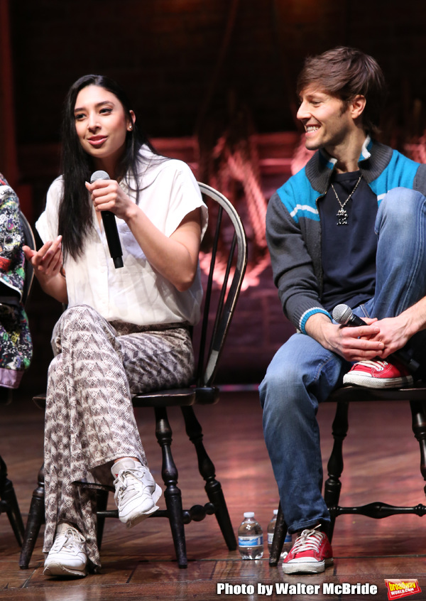 Lauren Boyd and Thayne Jasperson during the Q & A before The Rockefeller Foundation a Photo