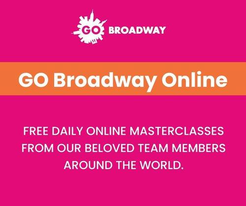GO Broadway ofrece Master Classes online para todo el mundo