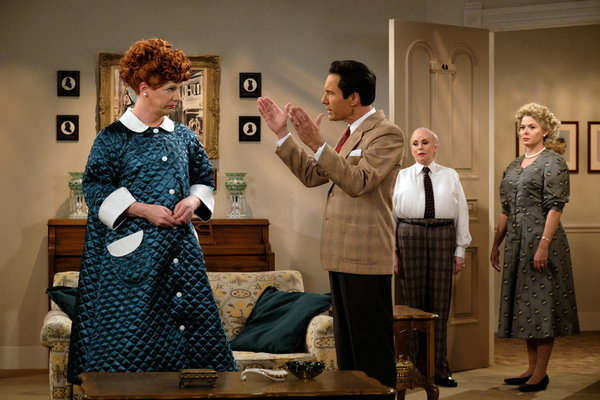 Photo Flash: WILL & GRACE Loves Lucy! See New Photos From the Set