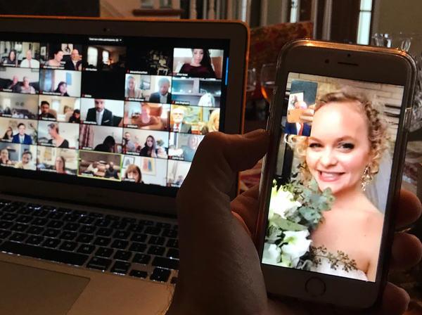 Photo Flash: WICKED Alum Amanda Jane Cooper Gets Married on Zoom