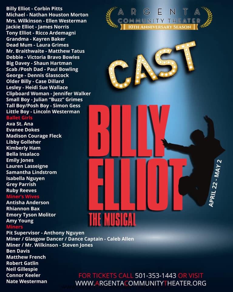 BWW Interview: Corbin Pitts of BILLY ELLIOT THE MUSICAL at Argenta Community Theater talks of Billy, auditions, and rehearsal