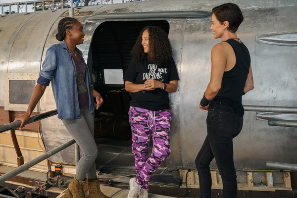 Kiki Layne, Director Gina Prince-Bythewood, Charlize Theron Photo