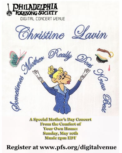 BWW Feature: Christine Lavin Announces Live Streaming Concert for Mother's Day In Wonderful Email To Friends