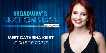 Meet the Next on Stage Top 15 Contestants - Catarina Kirst