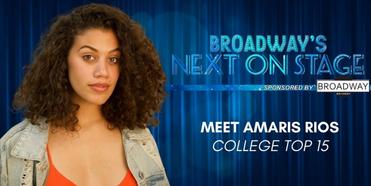 Meet the Next on Stage Top 15 Contestants - Amaris Rios