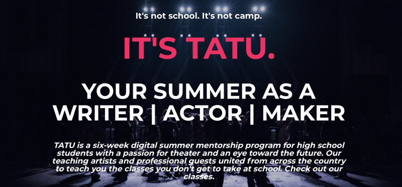 BWW Feature: TEEN ARTISTS THEATER UNIVERSITY Is the Digital Theater Intensive You've Been Craving