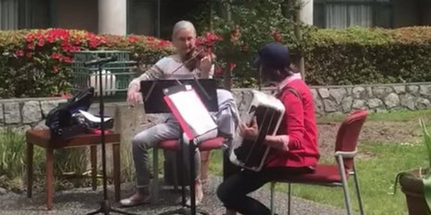 VIDEO: Vancouver Musicians Perform Outside For Care Home Residents