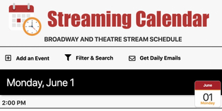 BroadwayWorld Launches Most Comprehensive Streaming Calendar!
