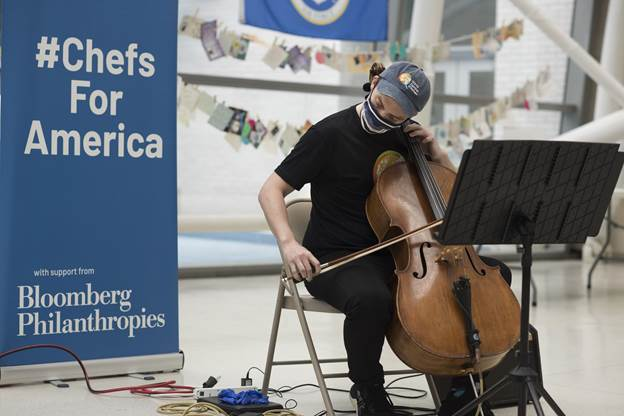Photo Flash: Jay Armstrong Johnson & Sam Quiggins Perform in Celebration of 1M Meals from World Central Kitchen