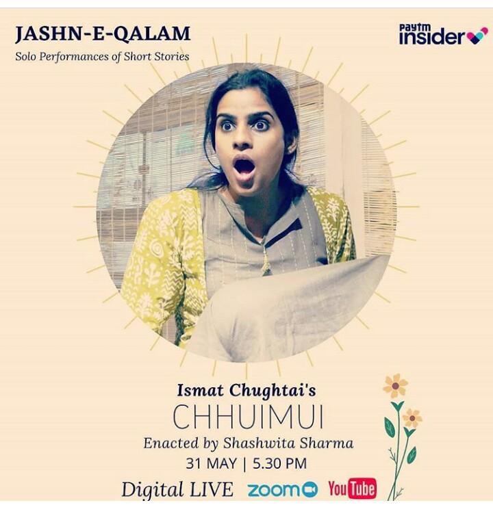BWW Review: JASHAN-E-QALAM : CHHUMUI - A TALE BY ISMAT CHUGTAI  at Digital - Live Play: Performed By Shashwita Sharma