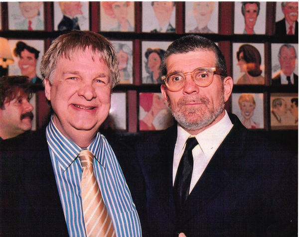 With David Mamet at the Sardi's opening night party for the Tony-winning 2005 revival Photo