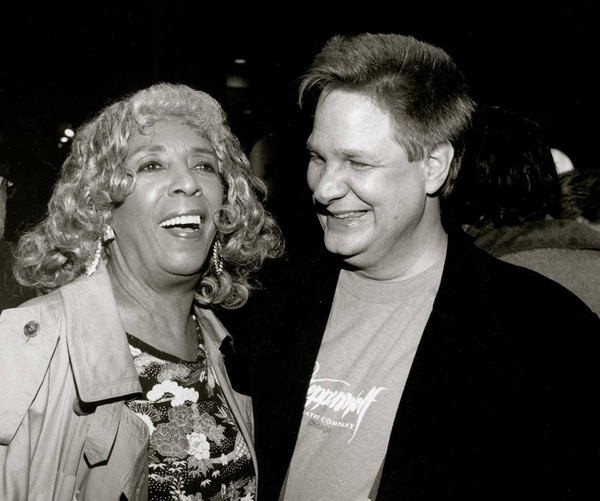 With Ellen Stewart, my opening night guest for THE GRAPES OF WRATH, 1990 Photo