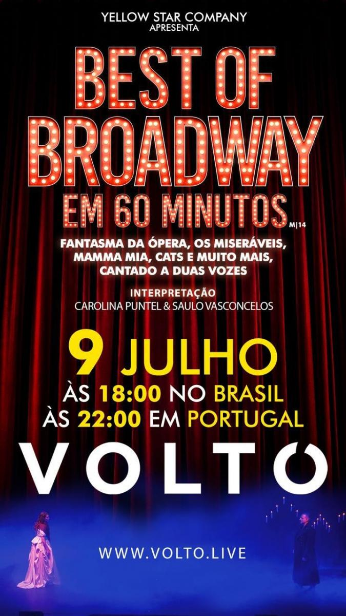 BWW Review: In a Brazil-Portugal Live, Saulo Vasconcelos and Carolina Puntel Will Take You To THE BEST OF BROADWAY IN 60 MINUTES