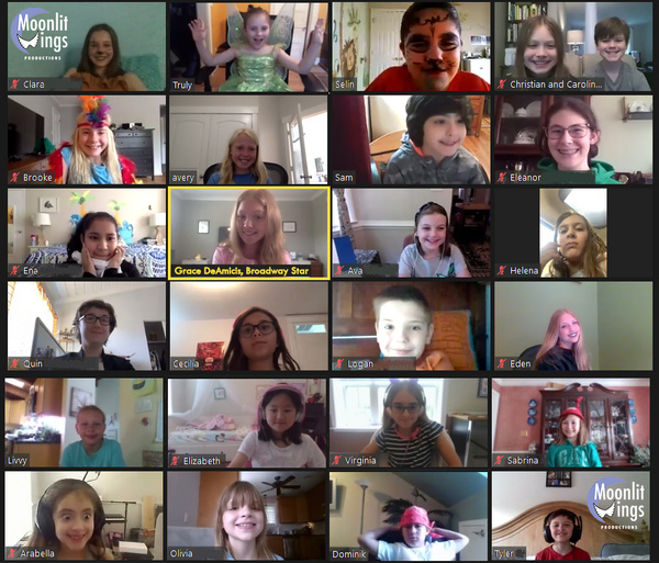 Young performers from Moonlit Wings Productions Virtual Broadway Camp chatted with Ha Photo