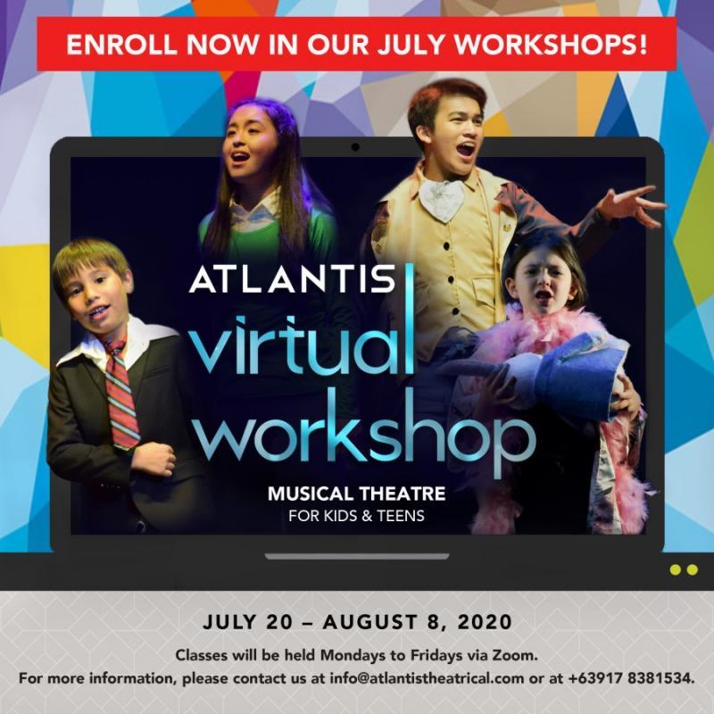 Atlantis Virtual Workshops for Kids and Teens Return This Month