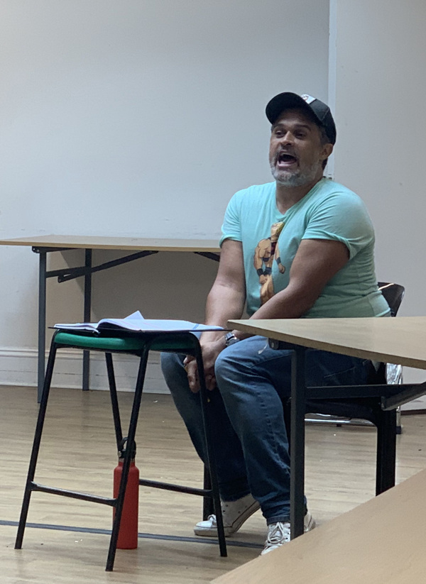 Photo Flash: First Look at Rehearsals for FANNY AND STELLA