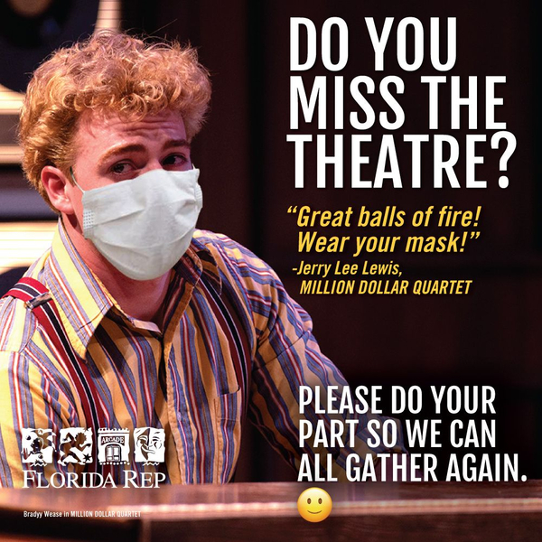 Photo Flash: Florida Repertory Theatre Launches 'Wear A Mask' Campaign