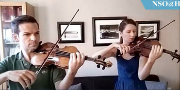 VIDEO: Benjamin Scott, Lauren Scott, and Abigail Leidy Perform as Part of NSO @ Home LIVE Photo