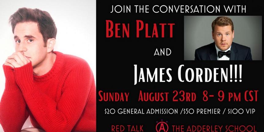 Ben Platt and James Corden Host The Adderley School's RED TALK Photo