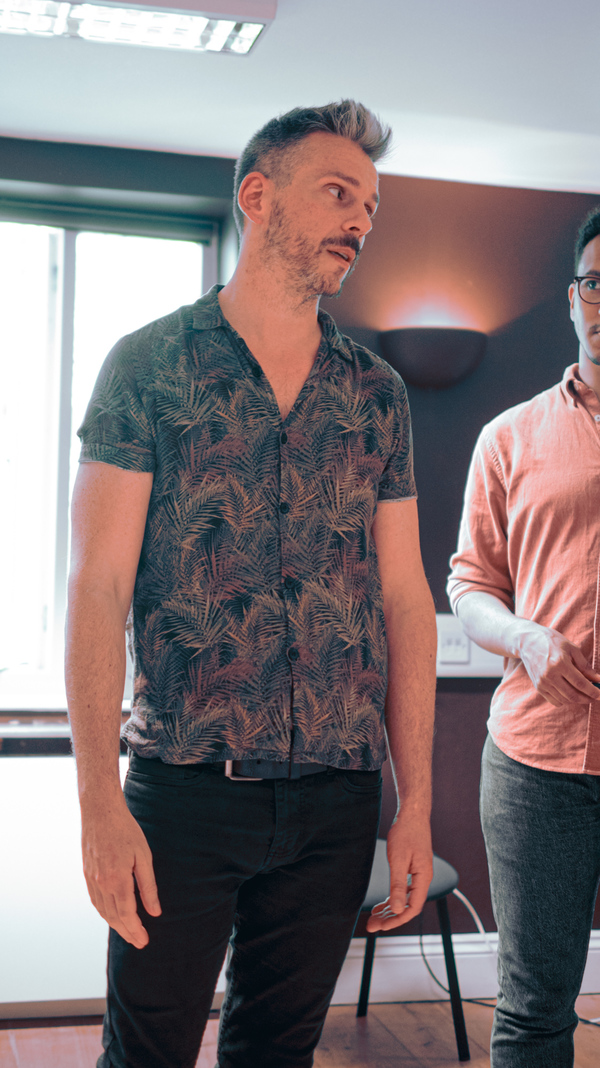 Photo Flash: First Look at THE WORLD GOES 'ROUND CAST in Rehearsal