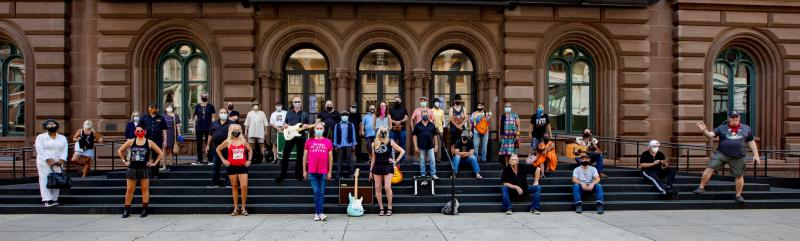 Photos: New York City's Music Community Comes Out in Solidarity to Pose for Save Our Stages Photo Shoot
