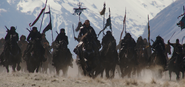 Disney's MULAN  Bori Khan (Jason Scott Lee) and his troops  Photo: Film Frame  © 201 Photo