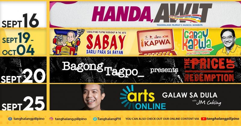Tanghalang Pilipino Adds Concert, Short Film & Workshops to September Offerings