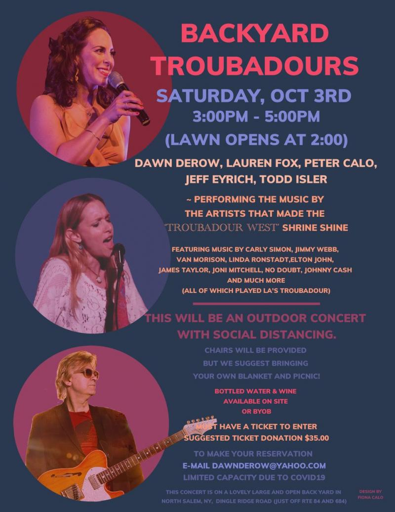 BWW Previews: Dawn Derow Presents BACKYARD TROUBADOURS Concert October 3rd